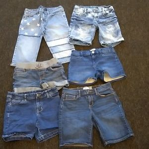 Other - 6 pairs of girls denim shorts size 12